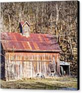 Barn By The Bluffs Canvas Print
