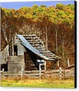 Barn In Fall Canvas Print by Marty Koch