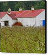 Barn With Blue Door Canvas Print by Art Block Collections