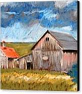Barns On Maple Street Canvas Print