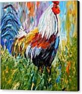 Barnyard Rooster Canvas Print by Barbara Pirkle
