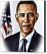 Barrack Obama Canvas Print by Tyler Robbins