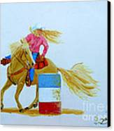 Barrel Racer Canvas Print