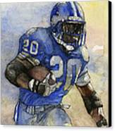 Barry Sanders Canvas Print by Michael  Pattison
