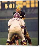 Bart Starr Looks Around Canvas Print by Retro Images Archive