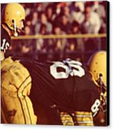 Bart Starr Ready For Snap Canvas Print by Retro Images Archive