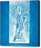 Bartholdi Statue Of Liberty Patent Art 1879 Blueprint Canvas Print