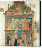 Bartolomeo De Benzi, Madonna And Angels Canvas Print by Everett