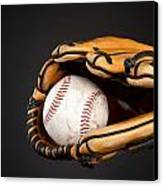 Baseball And Glove Canvas Print by Joe Belanger