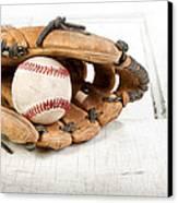 Baseball And Mitt Canvas Print