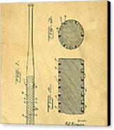 Baseball Bat Patent Canvas Print