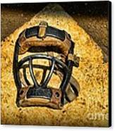 Baseball Catchers Mask Vintage  Canvas Print