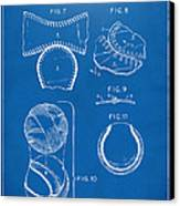 Baseball Construction Patent 2 - Blueprint Canvas Print