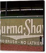 Baseball Field Burma Shave Sign Canvas Print