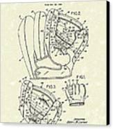Baseball Glove 1953 Patent Art Canvas Print by Prior Art Design
