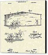 Baseball Pitcher 1902 Patent Art Canvas Print