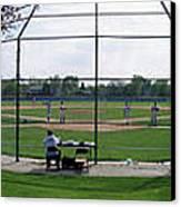 Baseball Playing Hard 3 Panel Composite 01 Canvas Print