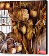 Basket Maker - I Like Weaving Canvas Print by Mike Savad