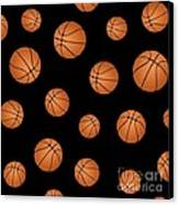 Basketball Pattern Canvas Print