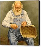 Basketmaker  In Oil Canvas Print by Paul Krapf