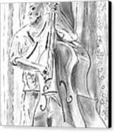 Bass Fiddle Blues Canvas Print by Elizabeth Briggs