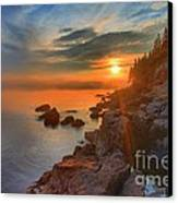 Bass Harbor Sunset Canvas Print by Adam Jewell