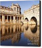 Bath Pulteney Bridge And Colonnade Bath Canvas Print by Colin and Linda McKie