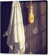 Bathroom Towel Canvas Print by Amanda Elwell