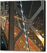 Bay Bridge Night Colors Canvas Print