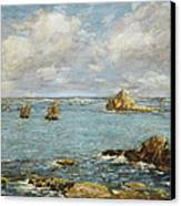 Bay Of Douarnenez Canvas Print by Eugene Louis Boudin