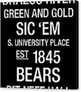 Baylor College Town Wall Art Canvas Print by Replay Photos