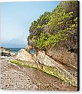 Beach At Montana De Oro Canvas Print by Artist and Photographer Laura Wrede