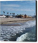 Beach At Santa Cruz Canvas Print by Eva Kato
