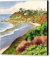 Beach At Swami's Encinitas Canvas Print