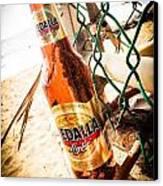 Beach Beer Canvas Print