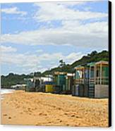 Beach Boxes Mornington Canvas Print