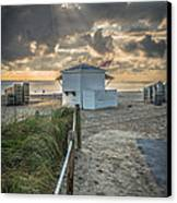 Beach Entrance To Old Glory - Hdr Style Canvas Print