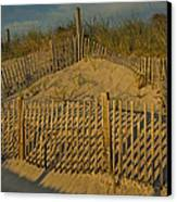 Beach Fence Canvas Print by Susan Candelario