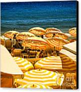 Beach In Cannes  Canvas Print by Elena Elisseeva