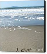 Beach Love Canvas Print by Linda Woods