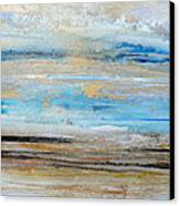 Beach Rhythms And  Textures Northumberland 1a Canvas Print by Mike   Bell