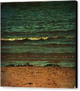 Beach Scene Ocean Waterfront Photograph Print Canvas Print by Laura Carter