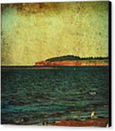 Beach Seascape Ocean Photograph Fine Art Print Canvas Print by Laura Carter