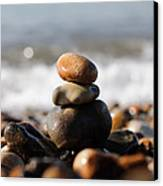 Beach Stones Canvas Print by Ivelin Donchev