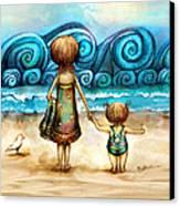 Beachcombers Canvas Print by Karin Taylor