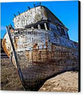 Beached Point Reyes Canvas Print