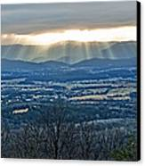 Beaming March Shenandoah Canvas Print by Lara Ellis