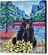 Bear By The Lake Canvas Print