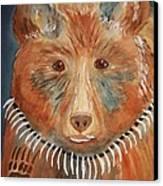 Bear Medicine Canvas Print by Ellen Levinson