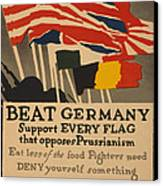 Beat Germany Canvas Print by Adolph Treidler